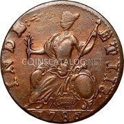 USA Connecticut Copper Mailed Bust Facing Left Connecticut Copper 1786 KM# 3.1 INDE: ETLIB • coin reverse
