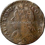 USA Connecticut Copper Mailed Bust Facing Left Connecticut Copper 1787/8 KM# 15 * AUCTORI * * * CONNEC. coin obverse