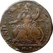 USA Connecticut Copper Mailed Bust Facing Left Connecticut Copper 1787/8 KM# 15 * INDE * * * ET * * LIB * * * coin reverse