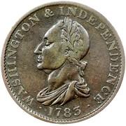 USA Copper 1783 KM# Tn38.1 Washington Pieces ∙ WASHINGTON & INDEPENDENCE ∙ coin obverse