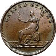 USA Copper 1783 KM# Tn38.4 Washington Pieces UNITED STATES coin reverse