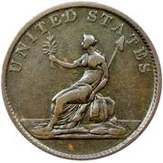 USA Copper 1783 KM# Tn38.1 Washington Pieces UNITED STATES coin reverse