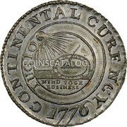 USA Dollar Continental Dollar 1776 KM# EA5 CONTINENTAL CURENCY FUGIO MIND YOUR BUSINESS coin obverse