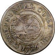USA Dollar Continental Dollar 1776 KM# EA5b CONTINENTAL CURENCY FUGIO MIND YOUR BUSINESS coin obverse