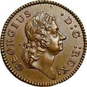 USA Farthing 1722 KM# 20 Hibernia GEORGIUS ∙ D : G : REX. coin obverse