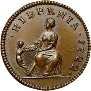 USA Farthing 1722 KM# 20 Hibernia ∙ HIBERNIA ∙ coin reverse