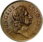 USA Farthing 1723 KM# 24 Hibernia GEORGIUS ∙ D : G : REX. coin obverse