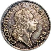 USA Farthing 1723 KM# 25a Hibernia GEORGIUS ∙ DEI ∙ GRATIA ∙ REX ∙ coin obverse