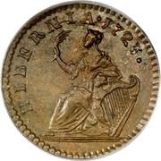USA Farthing 1723 KM# 24 Hibernia HIBERNIA ∙ coin reverse