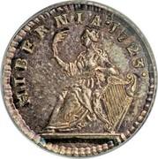 USA Farthing 1723 KM# 25a Hibernia HIBERNIA ∙ coin reverse
