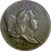 USA Half cent Liberty Cap 1794 Normal Relief Head KM# 14 LIBERTY coin obverse