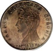 USA Half Dollar 1796 KM# Tn87.1 Castorland FRANCO - AMERICANA COLONIA CASTORLAND coin obverse