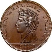 USA Half Dollar 1796 KM# Tn87.3a Castorland FRANCO - AMERICANA COLONIA CASTORLAND coin obverse