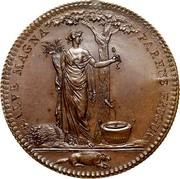 USA Half Dollar 1796 KM# Tn87.3a Castorland SALVE MAGNA PARENS FRUGUM coin reverse