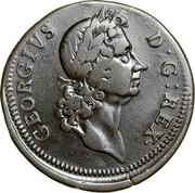 USA Halfpenny 1722 KM# 22 Hibernia GEORGIVS D: G: REX ∙ coin obverse