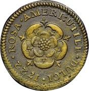 USA Halfpenny 1722 KM# 1 Rosa Americana ROSA • AMERI : UTILE • DULCI • coin reverse