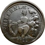 USA Halfpenny 1722 KM# 22 Hibernia ∙ HIBERNIAE ∙ coin reverse
