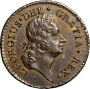 USA Halfpenny 1723 KM# 2 Rosa Americana GEORGIUS • DEI • GRATIA • REX • coin obverse