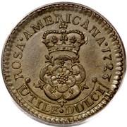 USA Halfpenny 1723 KM# 9 Rosa Americana ROSA • AMERICANA UTILE • DULCI coin reverse