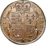 USA Halfpenny 1773 KM# Tn25.3 Virginia Halfpennies NIA • VIRGI coin reverse