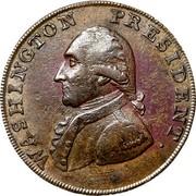 USA Halfpenny 1793 KM# Tn66.1 Washington Pieces WASHINGTON PRESIDENT. coin obverse