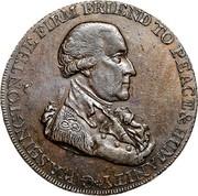 USA Halfpenny 1795 KM# Tn75.3 Washington Pieces * G.WASHINGTON THE FIRM FRIEND TO PEACE & HUMANITY coin obverse