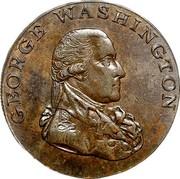 USA Halfpenny 1795 KM# Tn76.1 Washington Pieces GEORGE WASHINGTON coin obverse