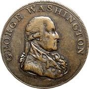 USA Halfpenny 1795 KM# Tn76.3 Washington Pieces GEORGE WASHINGTON coin obverse