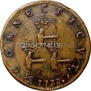 USA Higley Copper 1737 KM# Tn16 Higley or Granby coppers CONNECTICVT . coin reverse