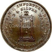 USA Mott Token 1789 KM# Tn52.2 Mott Tokens IMPORTEERS , DEALERS, MANUFACTURES, MOTTS, N. Y. OF GOLD & SILVER WARES. coin obverse
