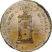 USA Mott Token 1789 KM# Tn52.3 Mott Tokens IMPORTEERS , DEALERS, MANUFACTURES, MOTTS, N. Y. OF GOLD & SILVER WARES. coin obverse
