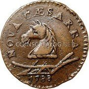USA New Jersey Copper 1788 KM# 18 New Jersey Coppers NOVA CAESAREA coin obverse