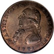 USA One Cent 1791 KM# Tn58 Washington Pieces WASHINGTON PRESIDENT coin obverse