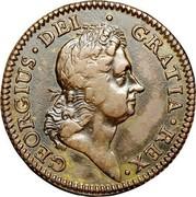 USA Penny 1722 KM# 5 Rosa Americana GEORGIUS • DEI • GRATIA • REX • coin obverse