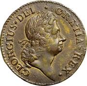 USA Penny 1722 KM# 4 Rosa Americana GEORGIUS • DEI • GRATIA • REX • coin obverse