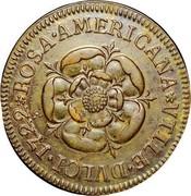 USA Penny 1722 KM# 5 Rosa Americana ROSA ∙ AMERICANA * VTILE ∙ DVLCI coin reverse