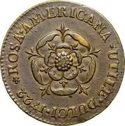 USA Penny 1722 KM# 4 Rosa Americana ROSA • AMERICANA • UTILE • DULCI coin reverse