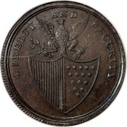USA Penny 1795 KM# Tn77.3 Washington Pieces LIBERTY AND SECURITY coin reverse