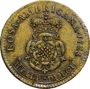 USA Penny Rosa Americana 1723 KM# 10 ROSA ∙ AMERICANA ∙ UTILE ∙ DULCI coin reverse