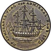 USA Rhode Island Ship Token 1779 KM# Tn27a Rhode Island Ship Tokens DE ADMIRALS FLAG van ADMIRAL HOVE 1779 coin obverse
