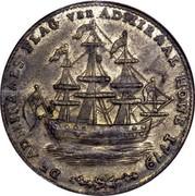 USA Rhode Island Ship Token 1779 KM# Tn28b Rhode Island Ship Tokens DE ADMIRALS FLAG van ADMIRAL HOVE 1779 coin obverse