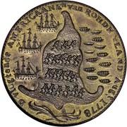 USA Rhode Island Ship Token 1779 KM# Tn27a Rhode Island Ship Tokens D. VLUGTENDE AMERICAANEN van ROHDE YLAND AUG, t 1778 coin reverse