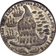 USA Rhode Island Ship Token 1779 KM# Tn28b Rhode Island Ship Tokens D. VLUGTENDE AMERICAANEN van ROHDE YLAND AUG, t 1778 coin reverse