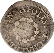 USA Six Pence 1783 KM# Tn46.1 John Chalmers I. CHALMER, ANNAPOLIS. coin obverse