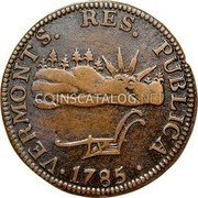 USA Vermont Copper 1785 KM# 3 Vermont Coppers • VERMONTS. RES. PUBLICA • coin obverse