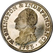 USA Washington Copper 1783 KM# Tn83.4b Washington Pieces • WASHINGTON & INDEPENDENCE • coin obverse