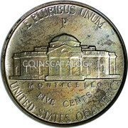USA 5 Cents Monticello 1942P KM# 192a E PLURIBUS UNUM UNITED STATES OF AMERICA FIVE CENTS MONTICELLO coin reverse