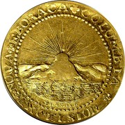 USA Brasher Doubloon 1787 KM# Tn51.2 Brasher Doubloons NOVA EBORACA COLUMBIA EXCELSIOR BRASHER coin reverse