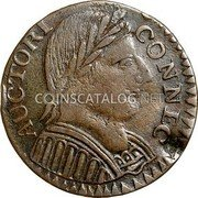 USA Cent Connecticut Mutton Head 1787 KM# 12 AUCTORI CONNEC coin obverse
