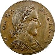 USA Copper 1787 KM# 12 Nova Eboracs NOVA EBORAC. coin obverse
